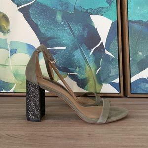 Banana Republic glitter heel sandals size 7.5